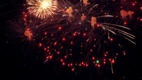 Majestic New Year celebration fireworks. 4K. Christmas New Year celebration fireworks