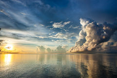 Majestic oceanic sunrise above Sulu sea. stock photography