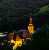 Majestic old church in small french village Andlau Stock Image