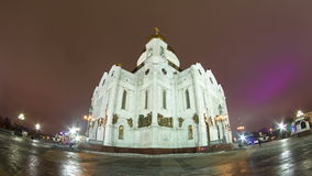 Majestic orthodox Cathedral of Christ Saviour stock video