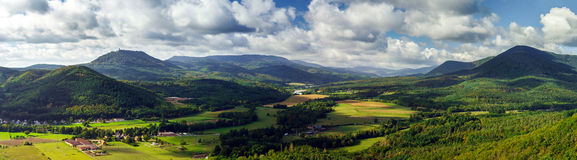 Majestic Overview To The Beautiful Valley From The Top Of The Hi Royalty Free Stock Photography