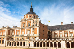 Majestic palace of Aranjuez in Madrid, Spain. Europe Royalty Free Stock Images