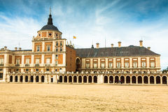 Majestic palace of Aranjuez in Madrid, Spain. Europe Royalty Free Stock Photos
