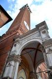 Majestic Palazzo Pubblico on Piazza del Campo in Siena, Tuscany, Italy Stock Photos