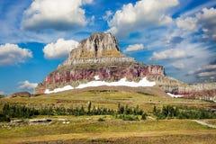 Majestic Peak on Hidden Lake Trail Stock Images