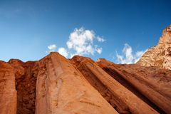 Majestic pillars rocks in the desert Royalty Free Stock Images