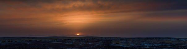 Majestic prairie with snowy Royalty Free Stock Photos