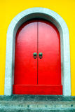 Majestic red Chinese door Royalty Free Stock Photo