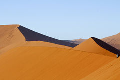 The majestic red dune. Shot in Deadvlei Stock Images