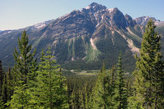 The majestic rocky mountains in canada Stock Image
