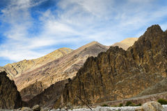 Majestic rocky mountains of Ladakh Royalty Free Stock Image