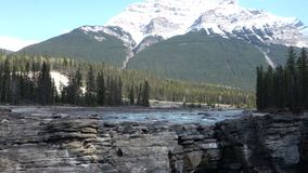 The majestic rocky mountains in the springtime stock footage