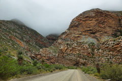 Majestic rocky redish mountains in Seweweekspoort pass Royalty Free Stock Photography