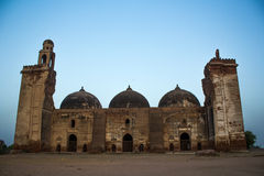 Majestic ruined mosques featuring tracery work, carvings and designs Stock Images