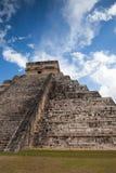 Majestic Mayan ruins in Chichen Itza,Mexico. Majestic ruins in Chichen Itza,Mexico.Chichen Itza is a complex of Mayan ruins. A massive step pyramid, known as El Stock Photo