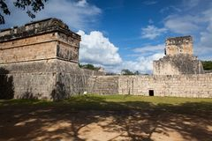 Majestic Mayan ruins in Chichen Itza,Mexico. Majestic ruins in Chichen Itza,Mexico.Chichen Itza is a complex of Mayan ruins on Mexicos Yucatan Peninsula. A Royalty Free Stock Photo