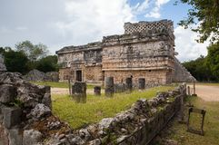 Majestic Mayan ruins in Chichen Itza,Mexico. Majestic ruins in Chichen Itza,Mexico.Chichen Itza is a complex of Mayan ruins. A massive step pyramid, known as El Royalty Free Stock Photo