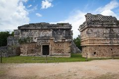 Majestic Mayan ruins in Chichen Itza,Mexico. Majestic ruins in Chichen Itza,Mexico.Chichen Itza is a complex of Mayan ruins. A massive step pyramid, known as El Royalty Free Stock Image