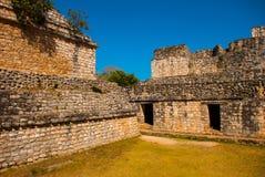 Majestic ruins in Ek Balam. Ek Balam is a Yucatec Maya archaeological site within the municipality of Temozon, Yucatan, Mexico. Majestic ruins in Ek Balam royalty free stock image