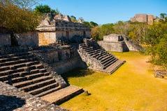 Majestic ruins in Ek Balam. Ek Balam is a Yucatec Maya archaeological site within the municipality of Temozon, Yucatan, Mexico. Majestic ruins in Ek Balam stock images