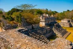 Majestic ruins in Ek Balam. Ek Balam is a Yucatec Maya archaeological site within the municipality of Temozon, Yucatan, Mexico. Majestic ruins in Ek Balam royalty free stock photos