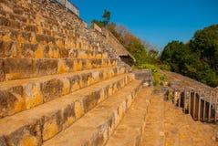 Majestic ruins in Ek Balam. Ek Balam is a Yucatec Maya archaeological site within the municipality of Temozon, Yucatan, Mexico. Majestic ruins in Ek Balam royalty free stock images