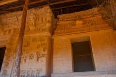 Majestic ruins in Ek Balam. Ek Balam is a Yucatec Maya archaeological site within the municipality of Temozon, Yucatan, Mexico. Majestic ruins in Ek Balam stock photo
