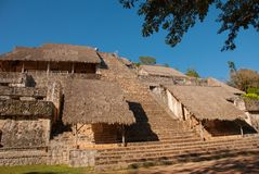 Majestic ruins in Ek Balam. Ek Balam is a Yucatec Maya archaeological site within the municipality of Temozon, Yucatan, Mexico. Majestic ruins in Ek Balam royalty free stock photography