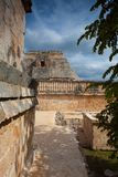 Majestic ruins Maya city in Uxmal,Mexico. Majestic ruins in Uxmal,Mexico. Uxmal is an ancient Maya city of the classical period in present-day Mexico stock photo