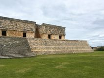 Majestic ruins Maya city in Uxmal,Mexico. Majestic ruins in Uxmal,Mexico. Uxmal is an ancient Maya city of the classical period in present-day Mexico royalty free stock photos