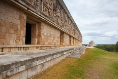 Majestic ruins Maya city in Uxmal,Mexico. Uxmal, Mexico - January 30, 2018: Majestic ruins in Uxmal,Mexico. Uxmal is an ancient Maya city of the classical stock images
