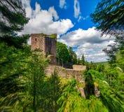 Majestic ruins of medieval castle Birkenfels, Alsace stock image