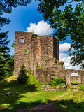 Majestic ruins of medieval castle Birkenfels, Alsace stock photos
