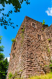 Majestic ruins of medieval castle Birkenfels, Alsace stock images