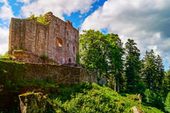 Majestic ruins of medieval castle Birkenfels, Alsace royalty free stock photography