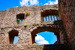 Majestic ruins of medieval castle Birkenfels, Alsace stock photo
