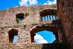 Majestic Ruins Of Medieval Castle Birkenfels, Alsace Stock Photo