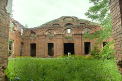 Majestic Ruins of stables and headquarters of hussars Royalty Free Stock Photos