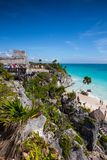 Majestic ruins in Tulum, Mexico Stock Photography