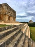 Majestic ruins Maya city in Uxmal,Mexico. Majestic ruins in Uxmal,Mexico. Uxmal is an ancient Maya city of the classical period in present-day Mexico stock photography