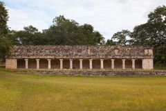 Majestic ruins Maya city in Uxmal,Mexico. Majestic ruins in Uxmal,Mexico. Uxmal is an ancient Maya city of the classical period in present-day Mexico royalty free stock photography