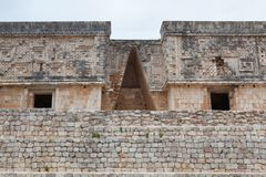 Majestic ruins Maya city in Uxmal,Mexico. Majestic ruins in Uxmal,Mexico. Uxmal is an ancient Maya city of the classical period in present-day Mexico stock images