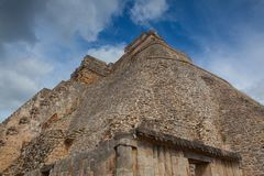 Majestic ruins Maya city in Uxmal,Mexico. Majestic ruins in Uxmal,Mexico. Uxmal is an ancient Maya city of the classical period in present-day Mexico stock photos
