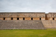 Majestic ruins Maya city in Uxmal,Mexico. Majestic ruins in Uxmal,Mexico. Uxmal is an ancient Maya city of the classical period in present-day Mexico royalty free stock image