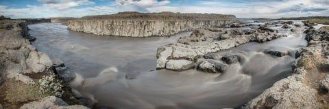 Majestic Selfoss waterfall Stock Photo