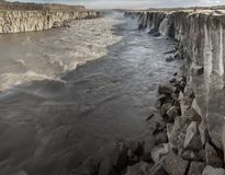 Majestic Selfoss waterfall Stock Images