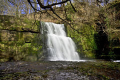 The Majestic Sgwd Clun Glyn waterfall on the Afon Mellte Stock Image