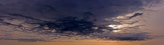Majestic sky Panorama Stock Photos