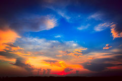 Majestic sky at sunset Royalty Free Stock Photos