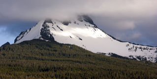 Majestic Snowcapped Mountain Peak Mt. Washington Oregon Cascade Royalty Free Stock Photo
